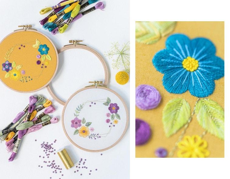 11 Stickstiche sticken lernen: Blumen!