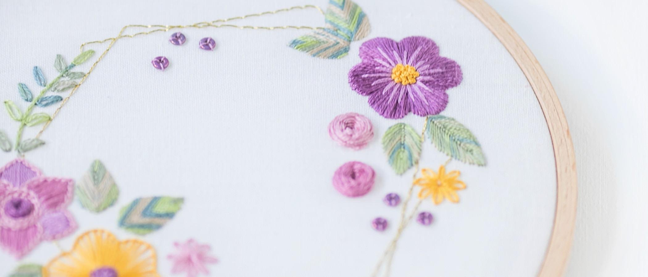 Sticken Blumen: Stickkurs mit Anleitung