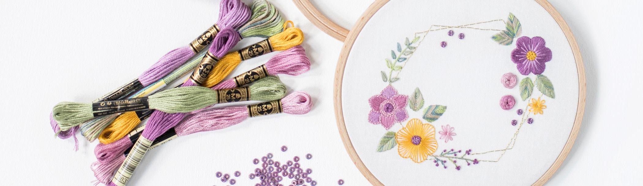 Blumen und Blätter sticken | Stickkurs Anfänger