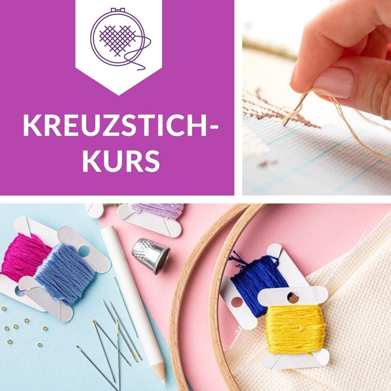 Kreuzstich sticken mit Anleitung im Kurs