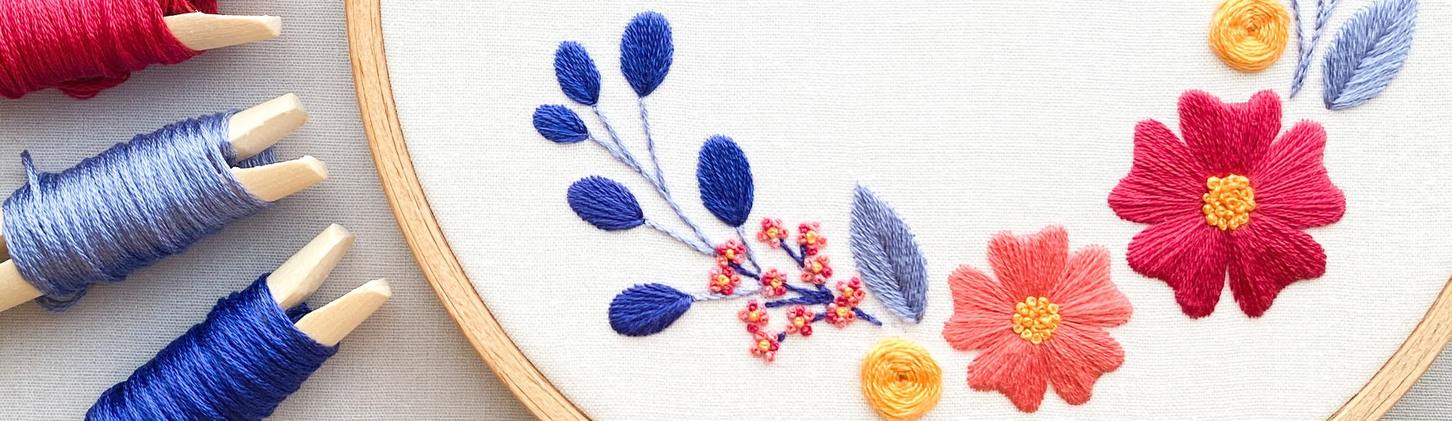Online Stickkurs für Anfänger: Blumenranken