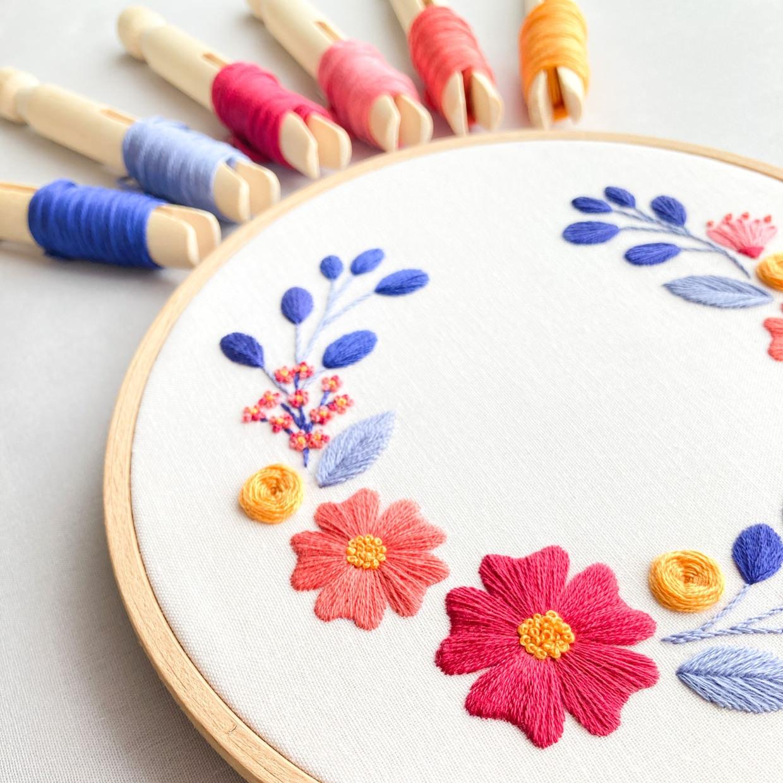 Blumen und Blüten Stickkurs online