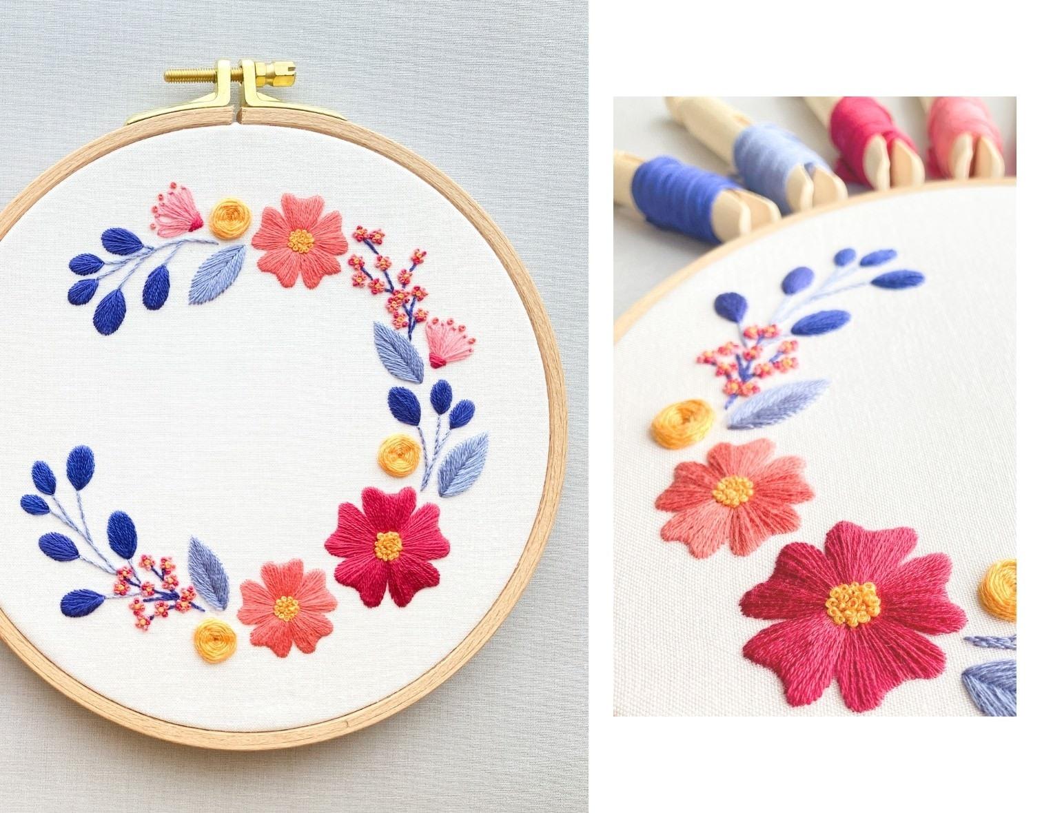 Online Stickkurs für Anfänger: Blumen sticken