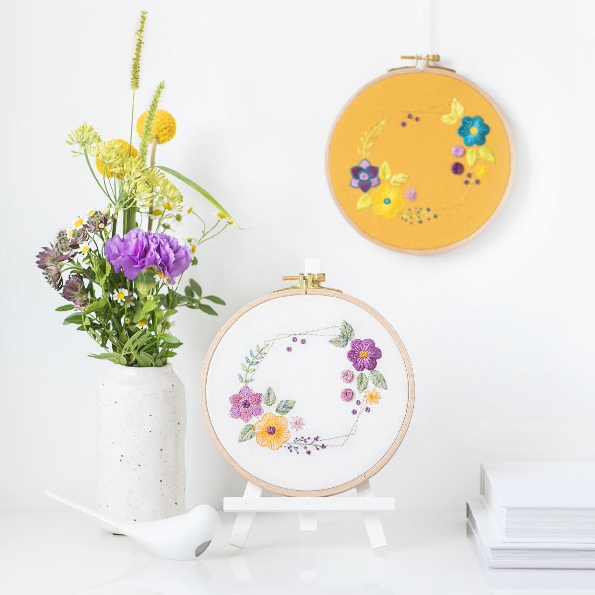 Sticken lernen: Kurs Blumen sticken